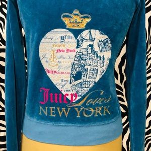 Juicy Couture Blue Velour Tracksuit Jacket